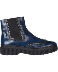 Tod's Stivaletti stivali donna in pelle - Blu