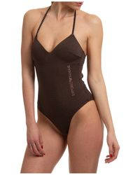 Emporio Armani Women's Swimsuit Swimming Costume Swimwear - Black
