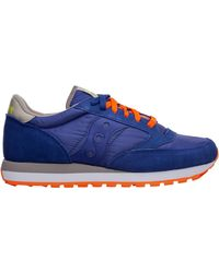 Saucony Men's Shoes Suede Trainers Trainers Jazz Original - Blue