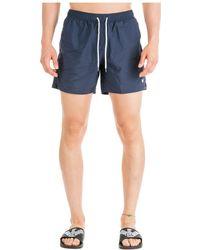 Emporio Armani Men's Boxer Swimsuit Bathing Trunks Swimming Suit - Blue