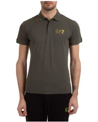 EA7 Men's Short Sleeve T-shirt Polo Collar - Multicolour