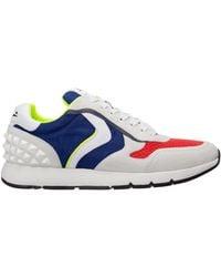 Voile Blanche Men's Shoes Suede Trainers Trainers Reubent Studs - Blue