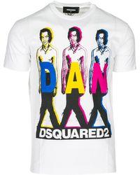 DSquared² T-shirt maglia maniche corte girocollo uomo - Bianco