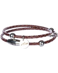 d''Este Men's Leather Bracelet - Multicolour