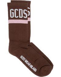 Gcds Women's Socks Logo - Brown