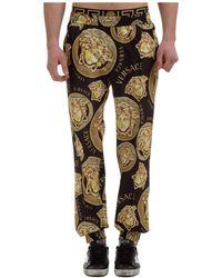 Versace Men's Pants Pants Medusa - Black