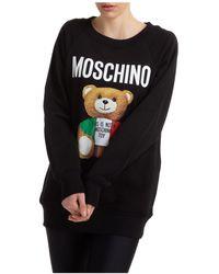 Moschino Women's Sweatshirt Italian Teddy - Black
