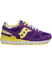 Saucony Women's Shoes Suede Trainers Trainers Shadow Original - Purple