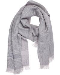 Emporio Armani Men's Wool Scarf - Grey