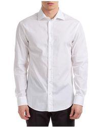 Emporio Armani Men's Long Sleeve Shirt Dress Shirt Modern Fit - White