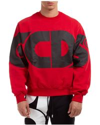Gcds Men's Sweatshirt Sweat Macro Logo - Red