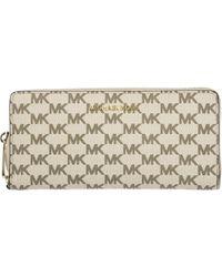Michael Kors - Wallet Genuine Leather Coin Case Holder Purse Card Bifold Jet Set Travel Continental - Lyst