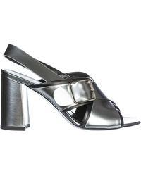 Premiata Women's Leather Heel Sandals - Multicolour