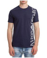 Emporio Armani T-shirt maglia maniche corte girocollo uomo - Blu