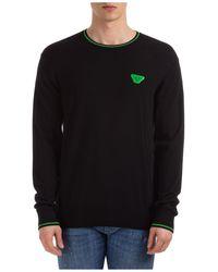 Emporio Armani Men's Crew Neck Neckline Sweater Sweater Pullover Regular Fit - Black