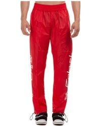 Palm Angels Pantaloni tuta uomo desert logo - Rosso