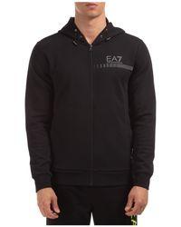 EA7 Men's Sweatshirt With Zip Sweat - Black