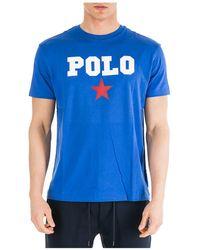 Ralph Lauren Men's Short Sleeve T-shirt Crew Neckline Sweater - Blue