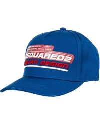 DSquared² Adjustable Men's Cotton Hat Baseball Cap - Blue