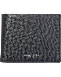 Michael Kors - Genuine Leather Wallet Credit Card Bifold Harrison - Lyst