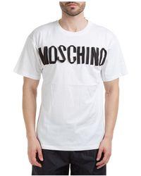 Moschino - T-shirt maglia maniche corte girocollo uomo - Lyst