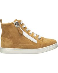 Gucci Boys Shoes Child Sneakers High Top Suede Leather - Natural