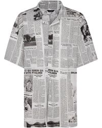 Balenciaga Men's Short Sleeve Shirt T-shirt - Grey