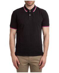 AT.P.CO Men's Short Sleeve T-shirt Polo Collar - Black
