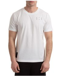 McQ Men's Short Sleeve T-shirt Crew Neckline Sweater - White