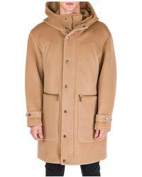 DSquared² Beige Wool Coat - Natural