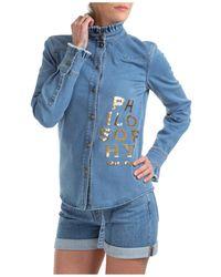 Philosophy Di Lorenzo Serafini Women's Shirt Long Sleeve - Blue