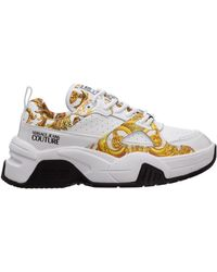 Versace Jeans Couture Women's Shoes Leather Sneakers Sneakers - Multicolour