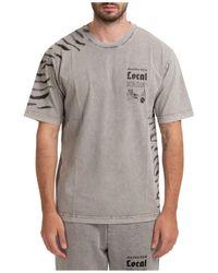 Mauna Kea Short Sleeve T-shirt Crew Neckline Jumper - Grey
