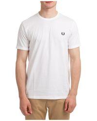 Fred Perry T-shirt maglia maniche corte girocollo uomo - Bianco
