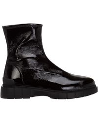 Car Shoe Women's Leather Ankle Boots Booties - Black