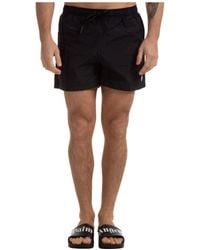 Marcelo Burlon Trunks Swimsuit Cross - Black