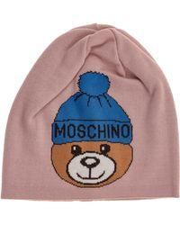 Moschino Cuffia berretto donna teddy - Multicolore