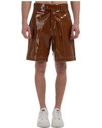 Gcds Men's Shorts Bermuda - Brown