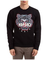 KENZO Men's Sweatshirt Sweat Tiger - Black