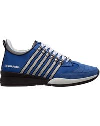 DSquared² Men's Shoes Leather Trainers Trainers 251 - Blue