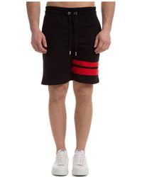 Gcds Men's Shorts Bermuda Logo - Black