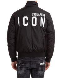 DSquared² Men's Bomber Outerwear Down Jacket Blouson Icon - Black