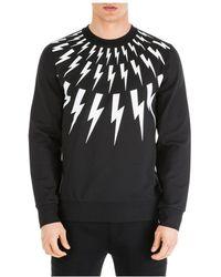Neil Barrett Men's Sweatshirt Sweat Fair-isle - Black