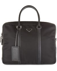 Prada Briefcase Attaché Case Laptop Pc Bag Nylon - Black