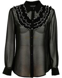 Boutique Moschino Women's Shirt Long Sleeve - Black