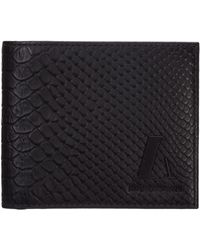 Emporio Armani Men's Wallet Genuine Leather Coin Case Holder Purse Card - Black
