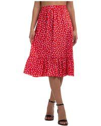 Marc Jacobs Women's Skirt Knee Length Midi - Red