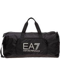 EA7 Borsa borsone tracolla fitness uomo palestra nylon - Nero