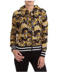 Versace Jeans Couture Women's Sweatshirt Hood Hoodie - Black
