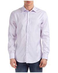 Emporio Armani Men's Long Sleeve Shirt Dress Shirt Modern Fit - Purple